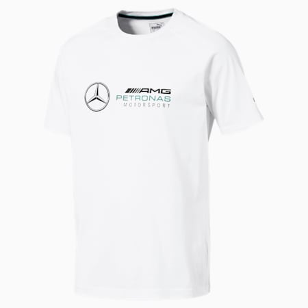 MERCEDES AMG PETRONAS Men's Logo T-Shirt, Puma White, small