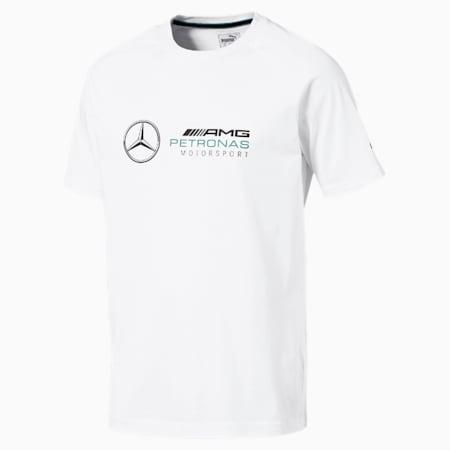 MERCEDES AMG PETRONAS Men's Logo T-Shirt, Puma White, small-SEA