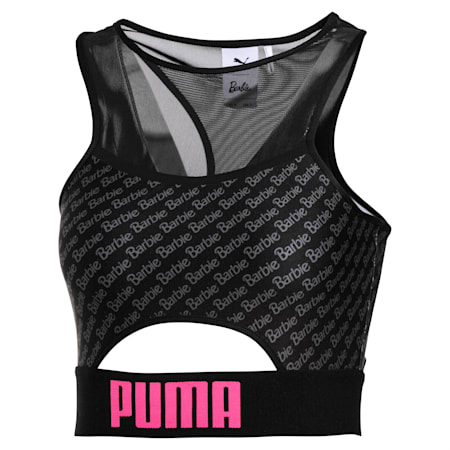 PUMA x BARBIE Women's Crop Top, Puma Black, small
