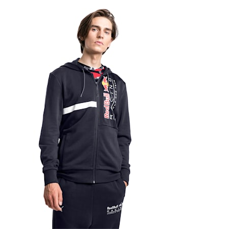 Red Bull Racing Hooded Men's Sweat Jacket, NIGHT SKY, small-GBR