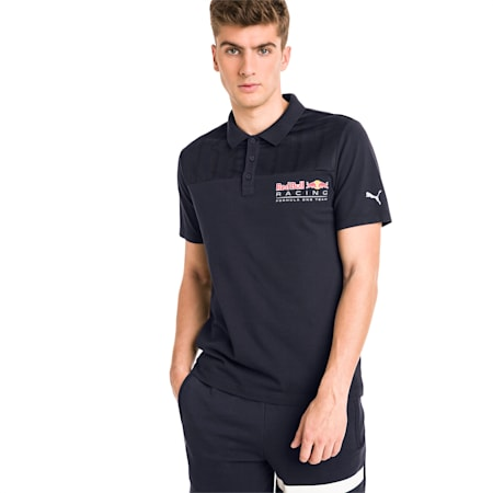Red Bull Racing Short Sleeve Men's Polo Shirt, NIGHT SKY, small-IND