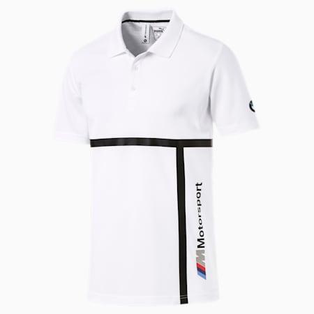 BMW Motorsport Men's Polo Shirt, Puma White, small-SEA