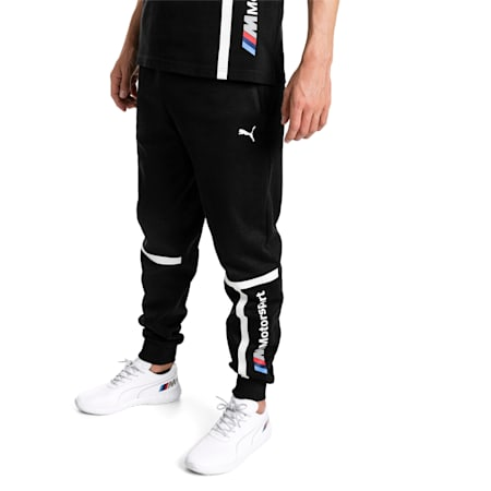 BMW Motorsport Knitted Men's Sweatpants, Puma Black, small-SEA