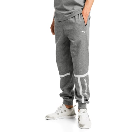 BMW Motorsport Knitted Men's Sweatpants, Medium Gray Heather, small