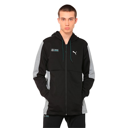 Mercedes AMG Petronas Motorsport Men's Sweat Jacket, Puma Black, small-IND