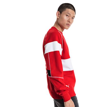 Scuderia Ferrari Street Men's Crewneck Sweatshirt, Rosso Corsa, small