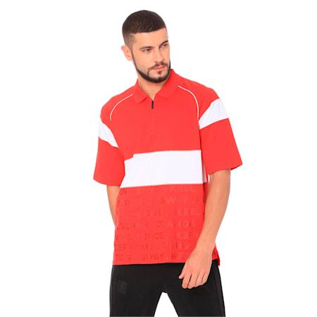 Ferrari Street Men's Polo, Rosso Corsa, small-IND