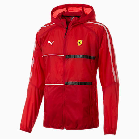 Ferrari T7 City Runner Hooded Men's Jacket, Rosso Corsa, small-SEA