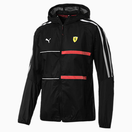 Ferrari T7 City Runner Hooded Men's Jacket, Puma Black, small-SEA