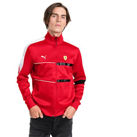 Ferrari T7 Men's Track Jacket, Rosso Corsa, small-SEA