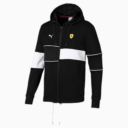Ferrari Hooded Zip-Up Men's Jacket, Puma Black, small
