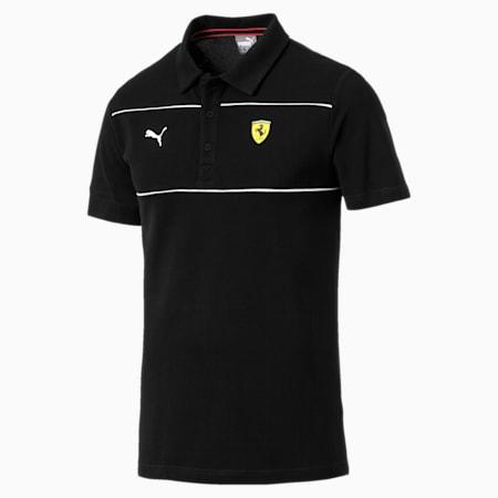 Ferrari Men's Branded Polo Shirt, Puma Black, small-SEA