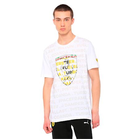 Ferrari Big Shield Men's T-Shirt, Puma White, small-IND