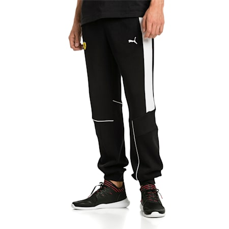 Ferrari Knitted Men's Sweatpants, Puma Black, small