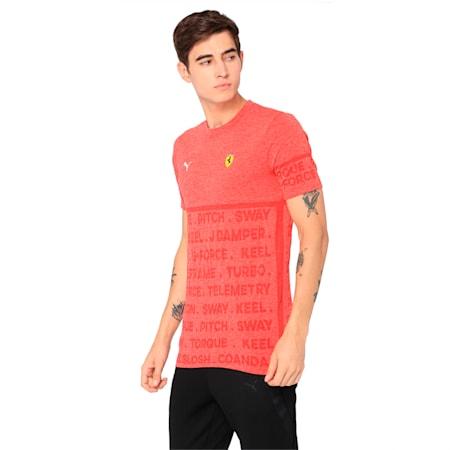 Ferrari evoKNIT Short Sleeve Men's T-Shirt, Rosso Corsa, small-IND