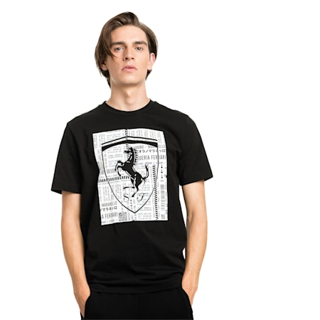 Camiseta con escudo grande de Scuderia Ferrari, Puma Black, pequeño