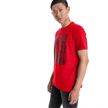Scuderia Ferrari Big Shield Tee, Rosso Corsa, small