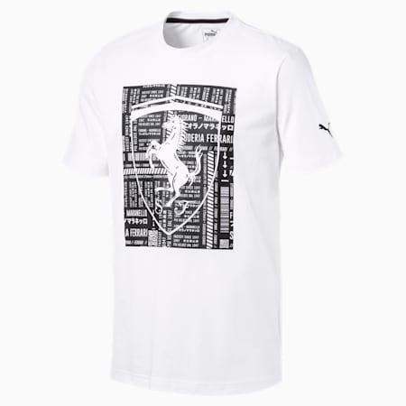 フェラーリ ビッグシールド Tシャツ, Puma White, small-JPN