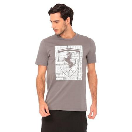 Ferrari Big Shield Men's T-Shirt, Charcoal Gray, small-IND