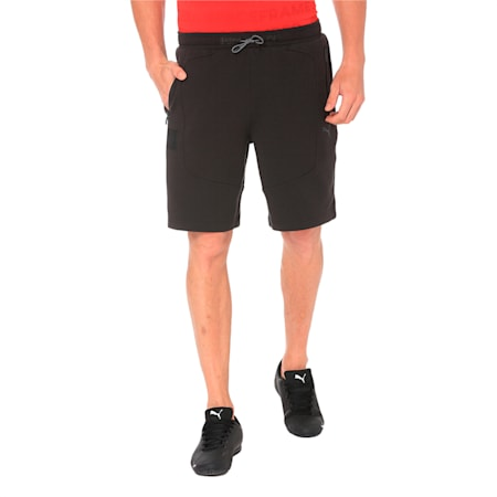 Ferrari Knitted Men's Shorts, Puma Black, small-IND