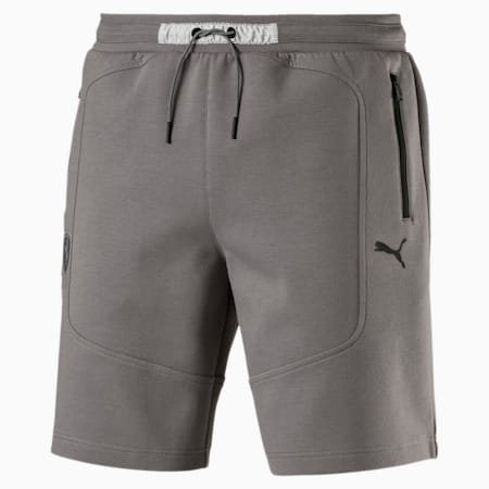 Ferrari Knitted Men's Shorts, Charcoal Gray, small
