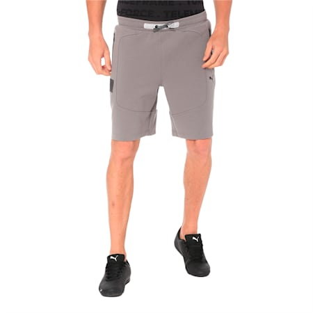 Ferrari Knitted Men's Shorts, Charcoal Gray, small-IND