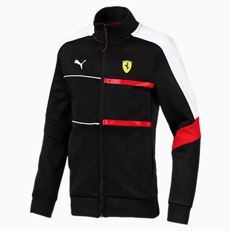 Ferrari T7 Kids' Track Jacket, Puma Black, small-SEA