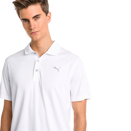 Rotation-golfpolo til mænd, Bright White, small