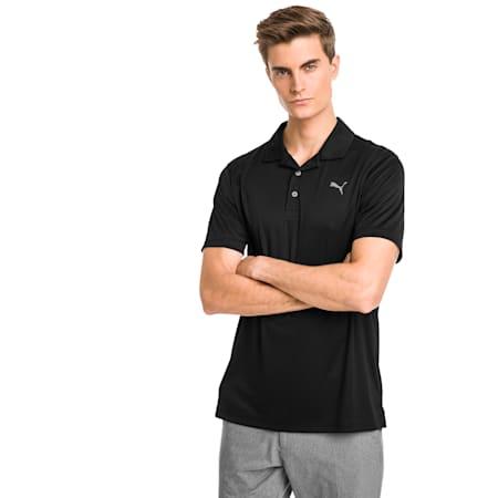 Rotation Men's Golf Polo, Puma Black, small-GBR