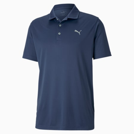 Rotation Men's Golf Polo, Dark Denim, small-SEA