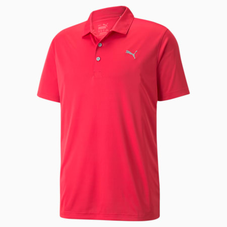Rotation Herren Golf Polo, Teaberry, small