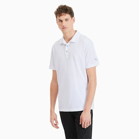 Polo Rotation Golf pour homme, Bright White, small