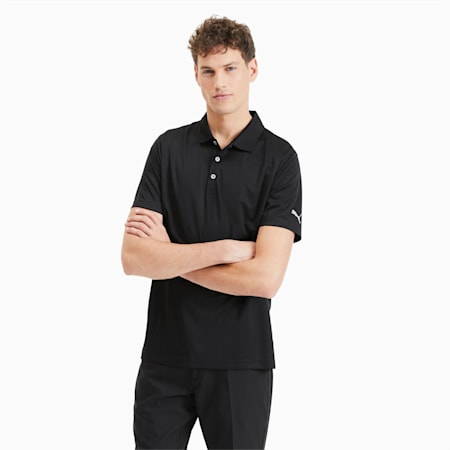 Rotation Men's Golf Polo, Puma Black, small
