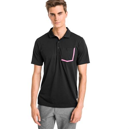 Faraday Men's Golf Polo, Puma Black, small-SEA
