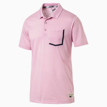 Faraday Men's Polo, Pale Pink, small