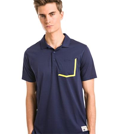 Faraday Men's Golf Polo, Peacoat, small-SEA