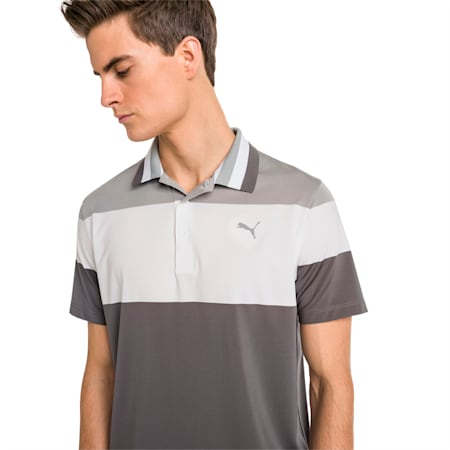 Nineties Herren Golf Polo, Quarry, small