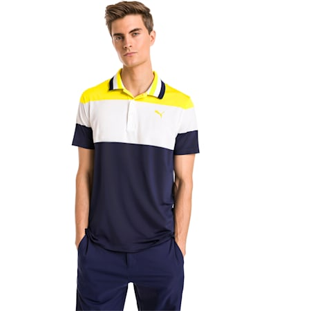 Nineties Herren Golf Polo, Blazing Yellow, small