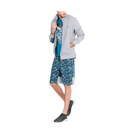 PUMA x Virat Kohli Men's Knitted Shorts, Medium Gray Heather-AOP, small-IND