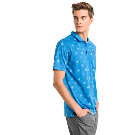 Verdant Men's Golf Polo, Bleu Azur, small-SEA