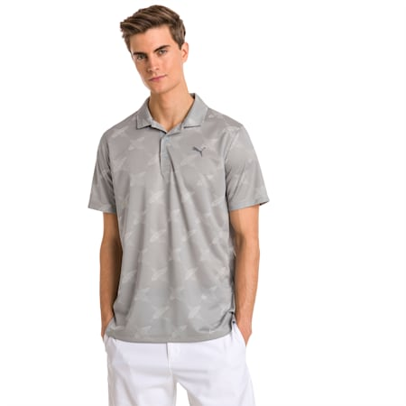 AlterKnit Palms Men's Golf Polo, Quarry, small-SEA