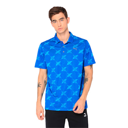 AlterKnit Palms Men's Golf Polo, Surf The Web, small-IND