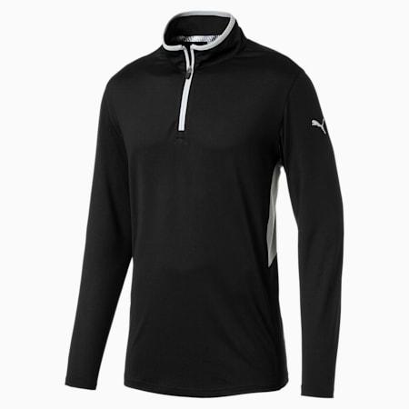 Rotation 1/4 Zip Men's Golf Pullover, Puma Black, small