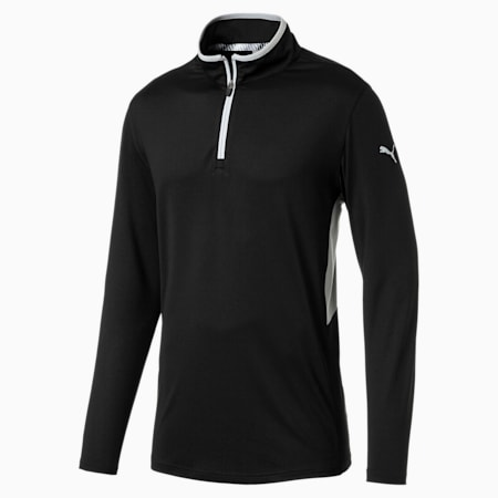 Rotation 1/4 Zip Men's Golf Pullover, Puma Black, small-GBR