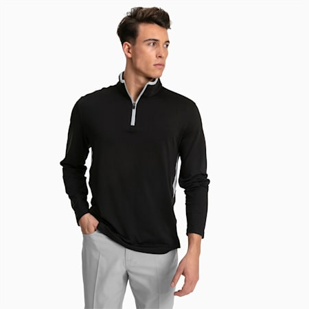 Rotation 1/4 Zip Herren Golf Pullover, Puma Black, small