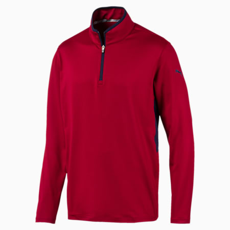 Rotation Men's 1/4 Zip Pullover, Rhubarb, small