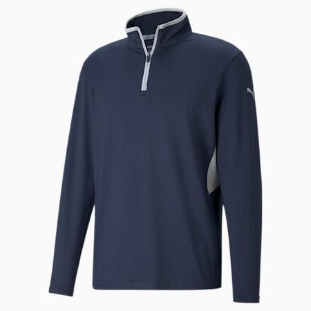 Rotation 1/4 Zip Men's Golf Pullover, Navy Blazer, small