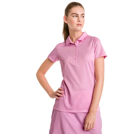 Burst Into Bloom Women's Golf Polo, Pale Pink, small-SEA