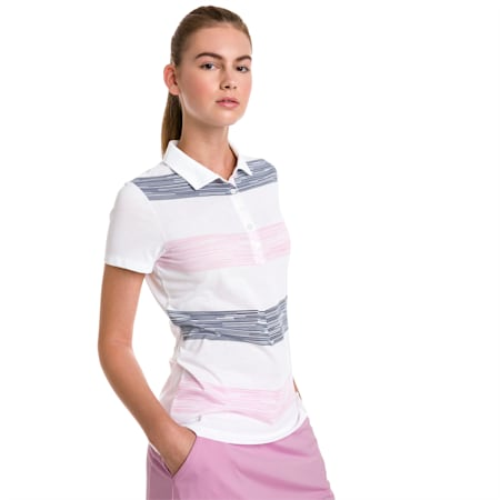 Race Day Women's Golf Polo, Pale Pink, small-SEA