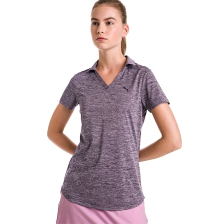 Super Soft Women's Golf Polo, Indigo Heather, small-SEA